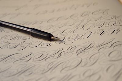 spencerian script, handwriting, caligraphy, dear maude