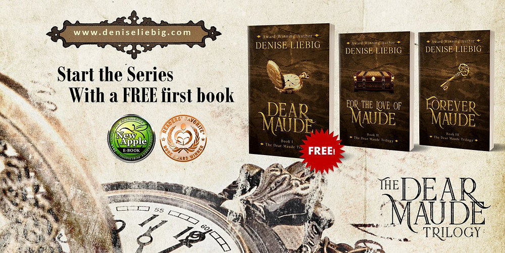 Dear Maude Trilogy, free ebook, historical fantasy fiction, time travel romance