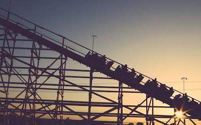 Vintage roller coaster, dear maude, historical fantasy fiction