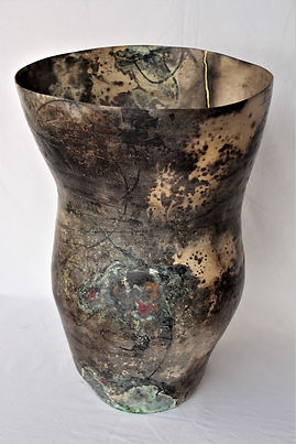 'Radical unlearning and the whiff of the permission slip.' Hand built, pit fired porcelain