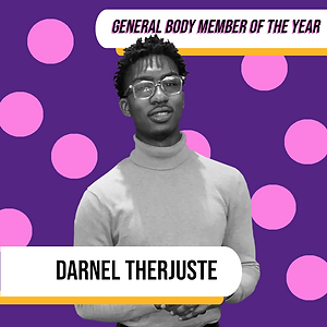 General Body Member of the Year - Darnel Therjuste