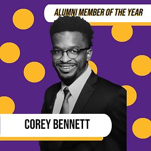 Alumni Member of the Year - Corey Bennett