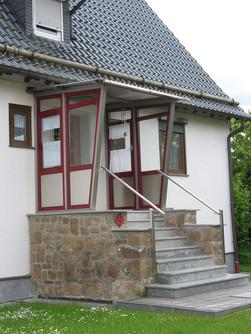 Windfang an Hauseingang