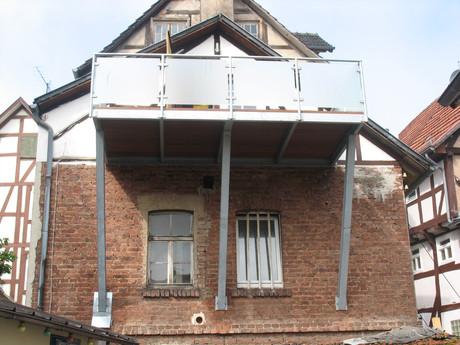 Balkonkonstruktion, nachträglich angebaut