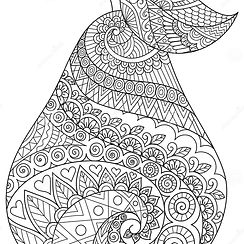 line-art-drawing-pear-editable-stroke-width-printing-stuffs-adult-coloring-book-page-vecto
