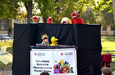 Red Cross puppet show