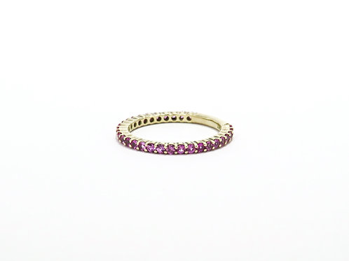 Pink Sapphire Ring in 14k Yellow Gold