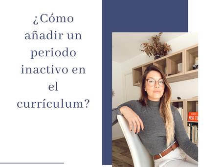 ¿Cómo añadir un periodo inactivo en el currículum?