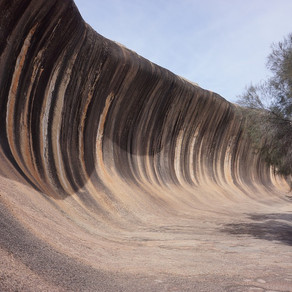 Under the Milky Way at Wave Rock