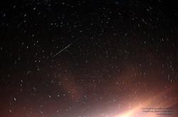 Circumpolar y meteoro el 06/11/2015