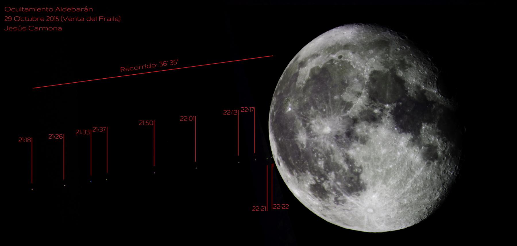Ocultación de Aldebarán por la Luna