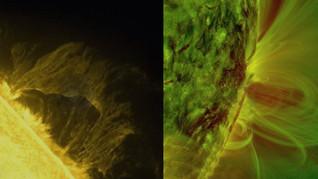 Espectaculares vídeos de la actividad solar