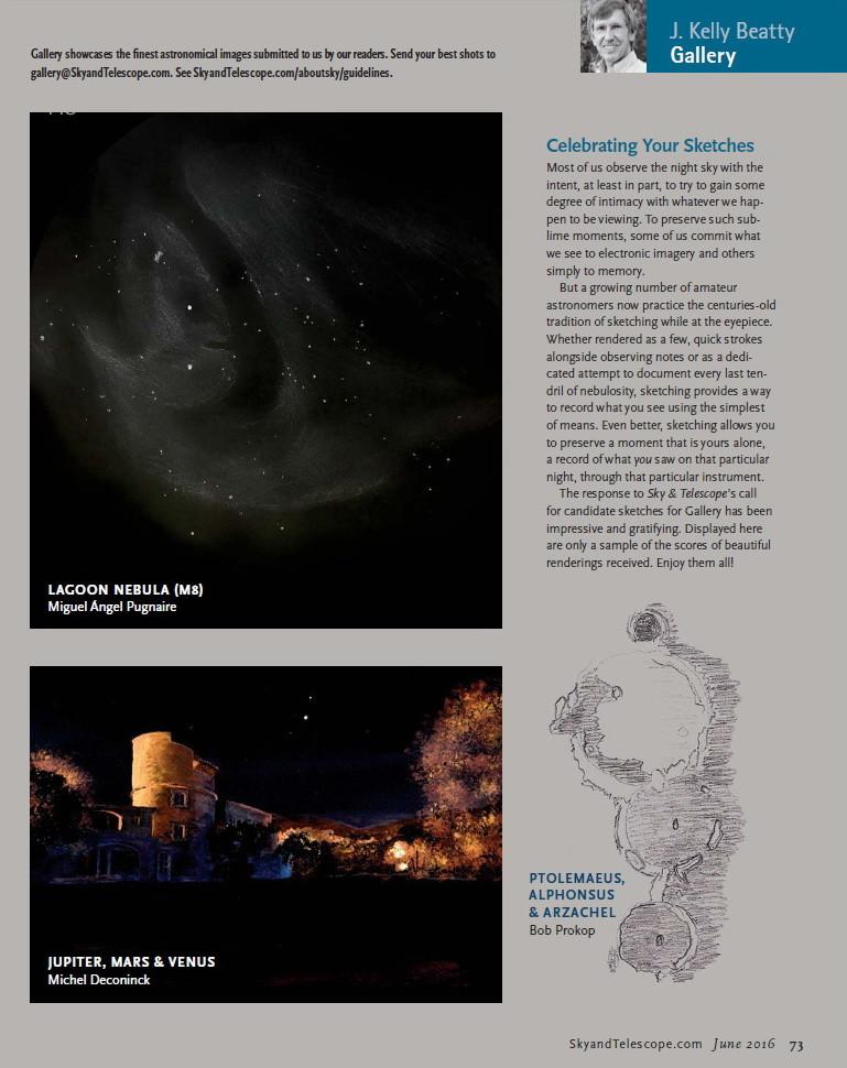 Página 73 de Sky & Telescope de junio de 2016