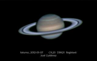 Imágenes de Marte y Saturno en mayo de 2012