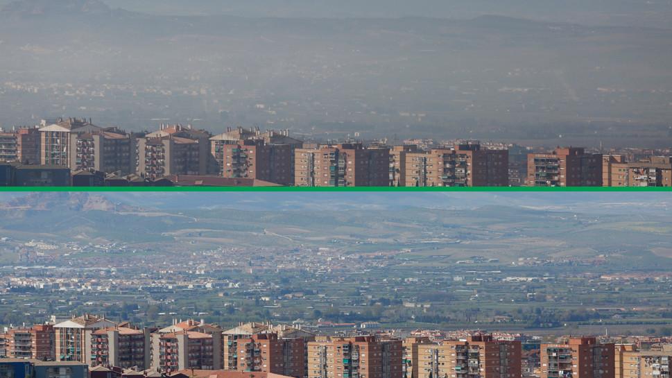 Comparativa del aire desde la zona Norte de Granada capital.
