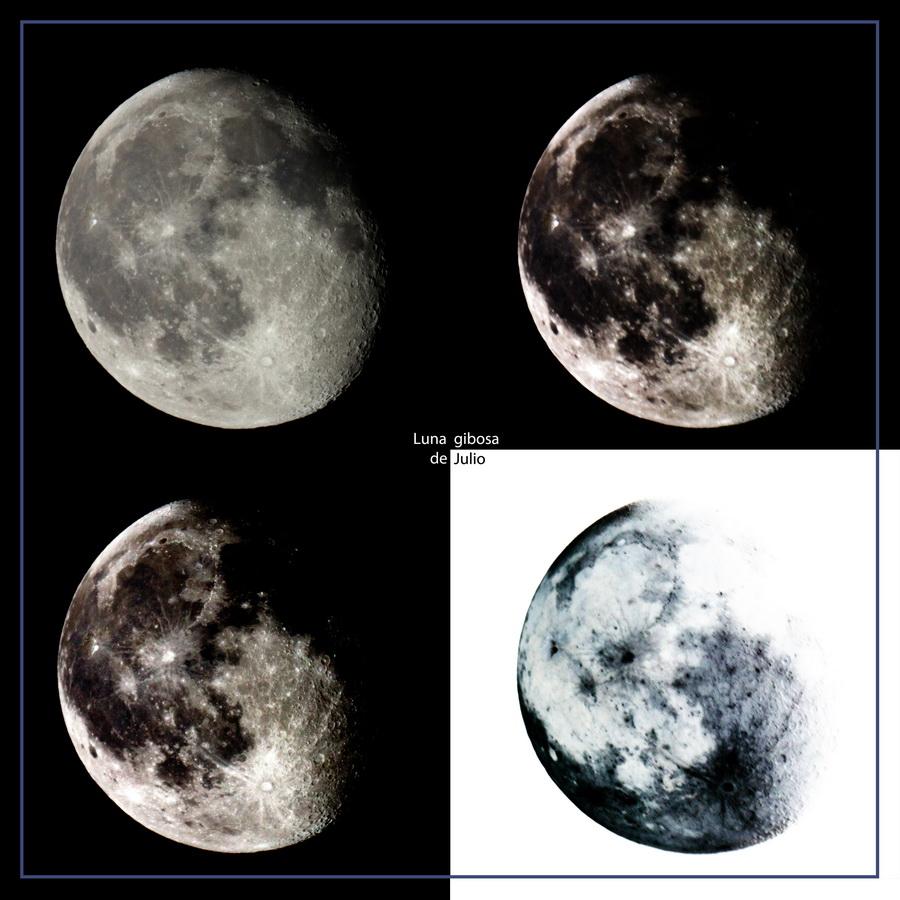 Luna gibosa de julio