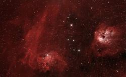 Nebulosa Estrella Llameante y IC 410