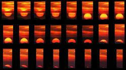 Secuencia de la puesta de Sol