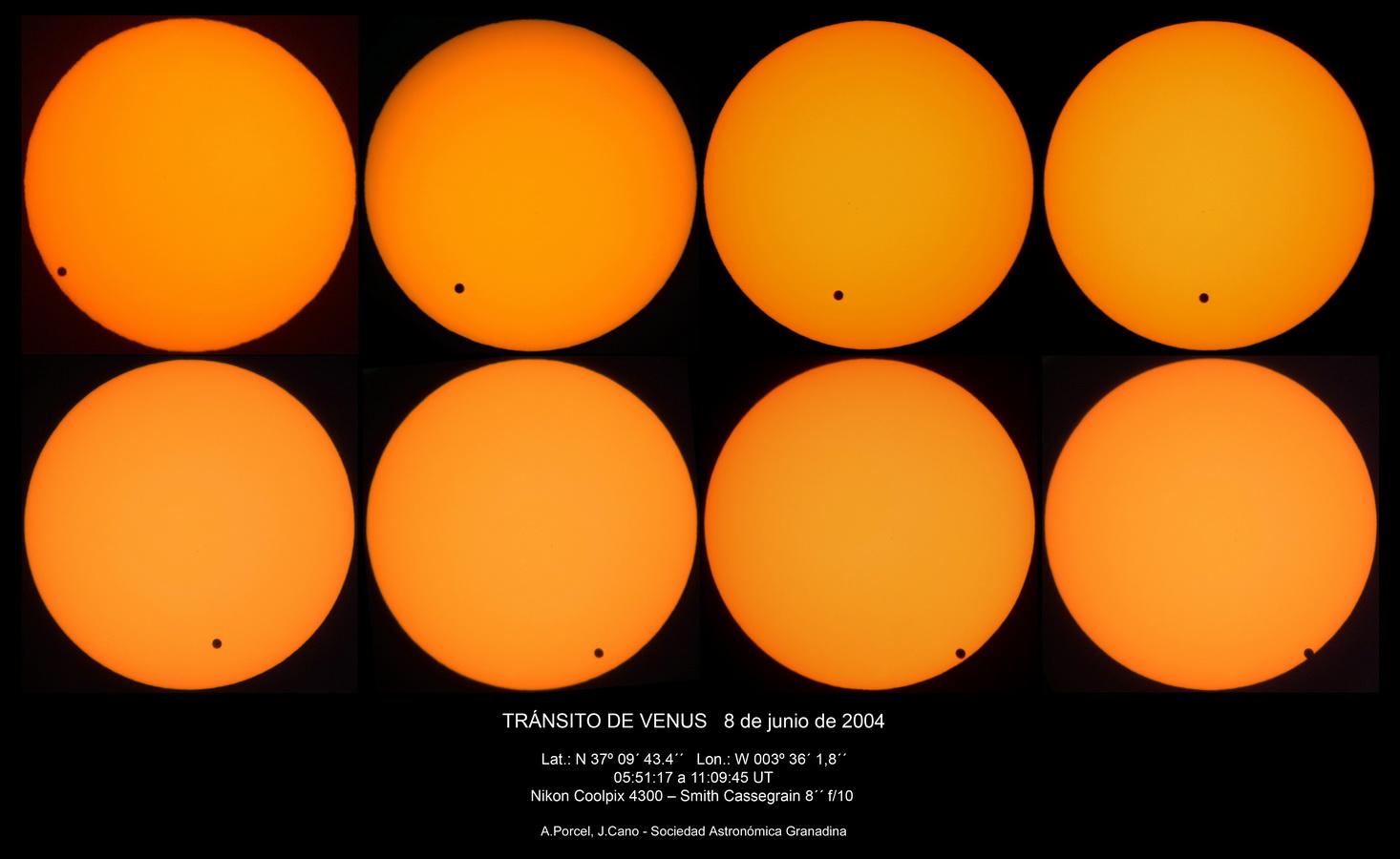 Tránsito Venus por el Sol 8//6/2004