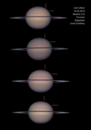 Imágenes de Saturno y la mancha blanca