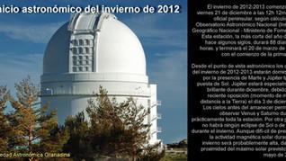 Comienzo del invierno 2012-2013