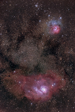 Nebulosas de La Laguna y la Trífida