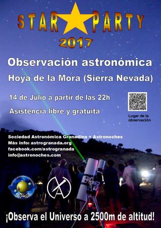 STAR PARTY 2017: Observación Astronómica en Sierra Nevada