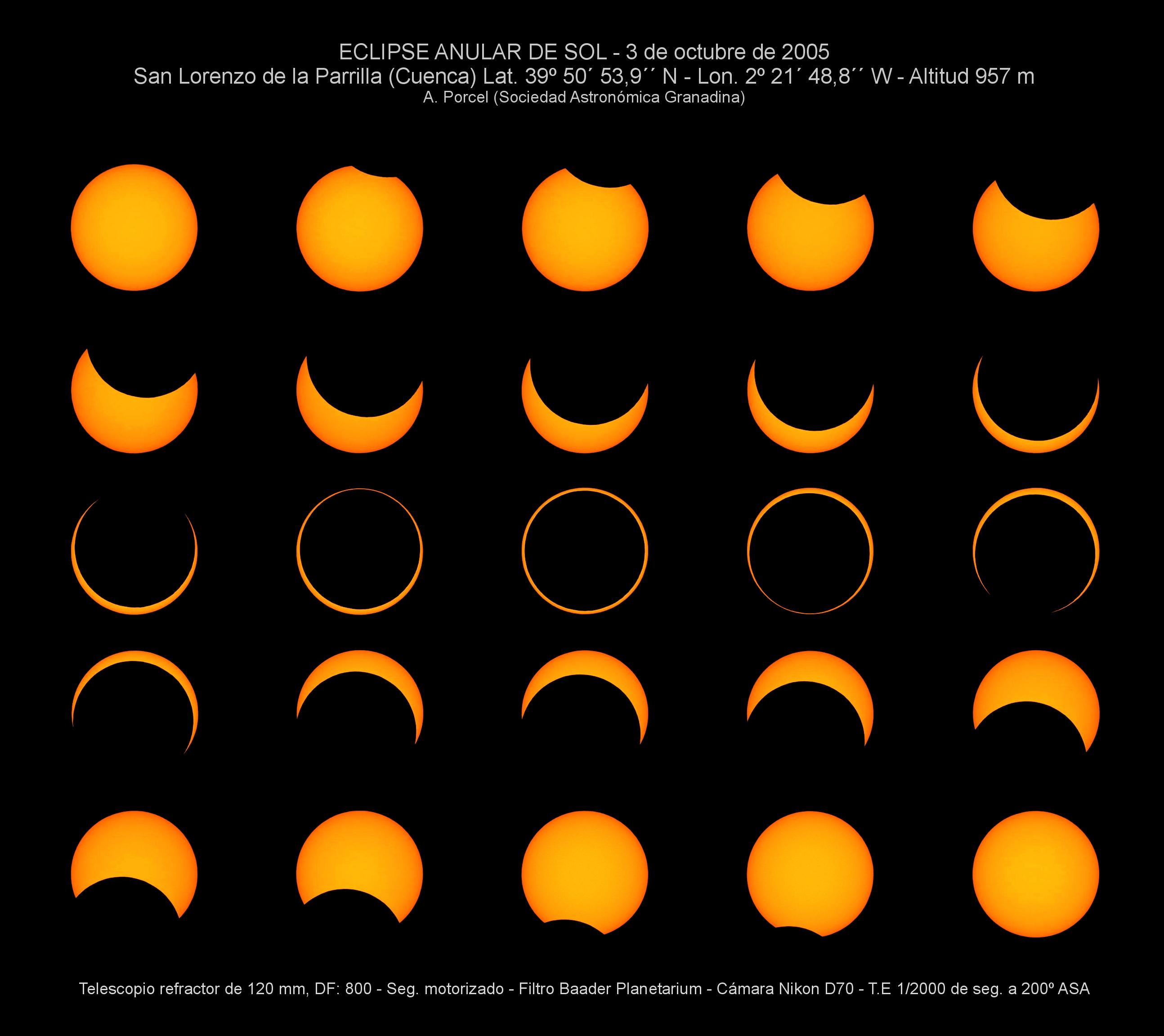 Eclipse anular de Sol del 03/10/2005