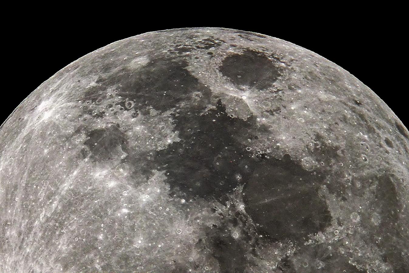 Detalle del disco lunar