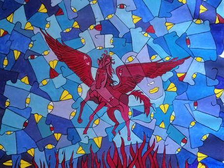 速報! 紅騎士ワインのラベルの原画を中野サンプラザ・ライブ会場で展示