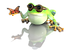 Mini Lucky Frog Mascot