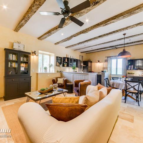 Sitting/Dining/Kitchen area