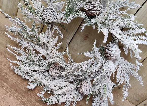 Artificial Frosted Wreath