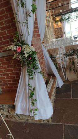 Curtain Flower Arrangement
