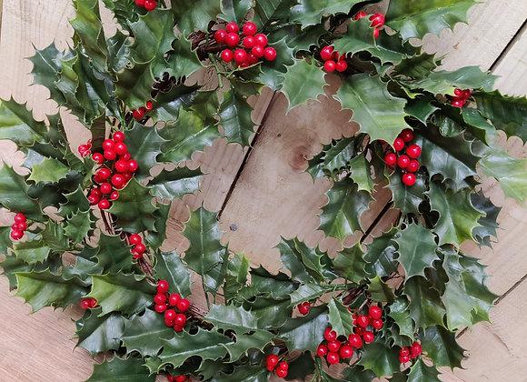 Artificial Holly Wreath