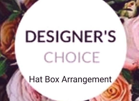 Florist Choice Hat Box Arrangement