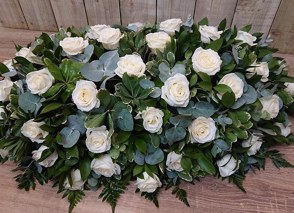 Rose Coffin Top Spray