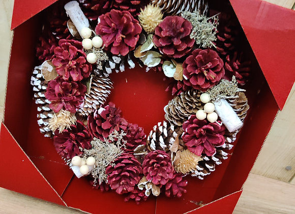 Artificial Red Wreath