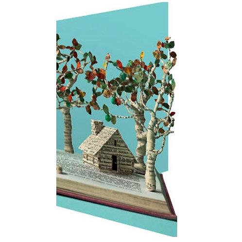 Doppelkarte »Book Art«, Enchanted Cottage