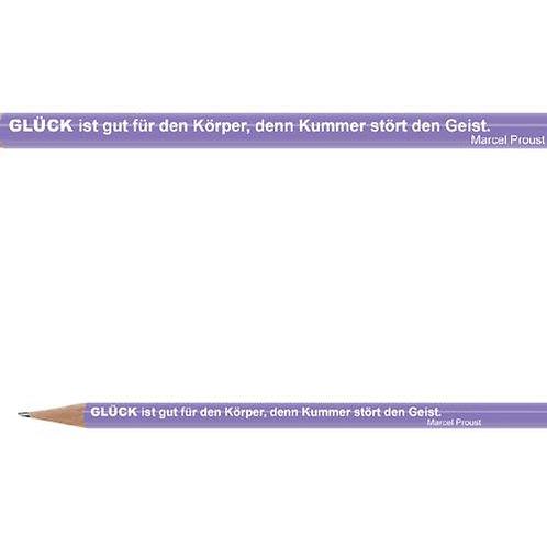Zitate-Bleistift, Proust, Glück