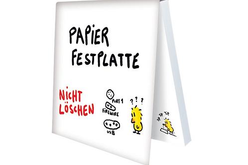 Klebezettel »Papierfestplatte«