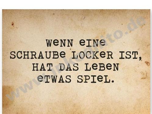 Postkarte »Schraube locker«