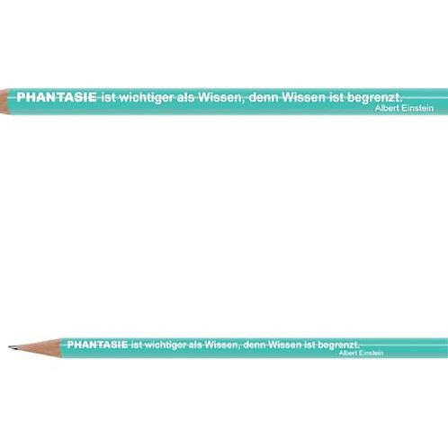 Zitate-Bleistift, Einstein, Phantasie