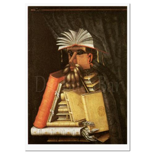 Kunstpostkarte »Der Bibliothekar«