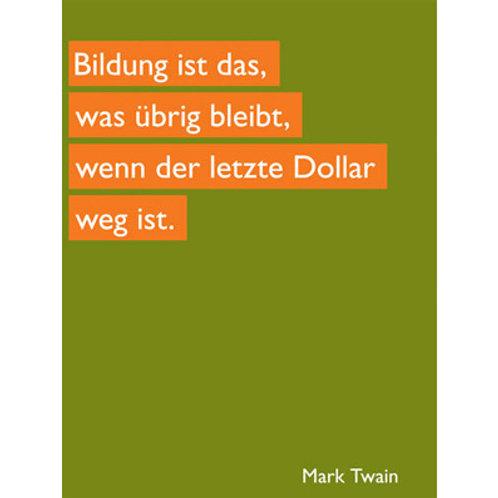 Postkarte »Bildung«