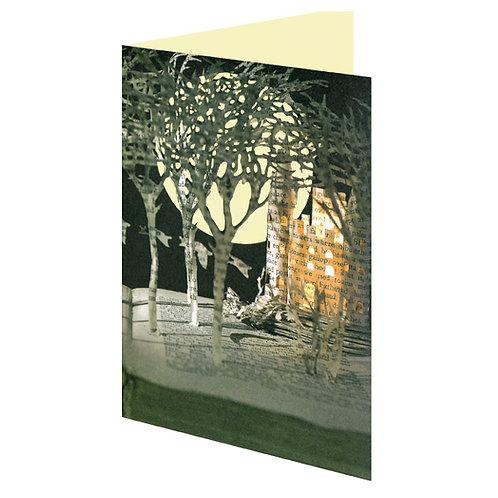 Doppelkarte »Book Art«, Wild Swans