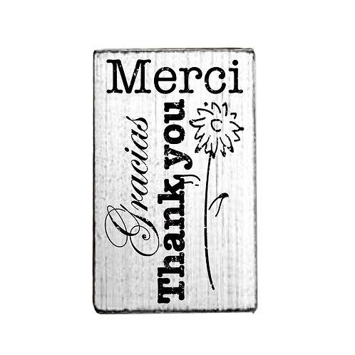 Vintage-Stempel »Danke«