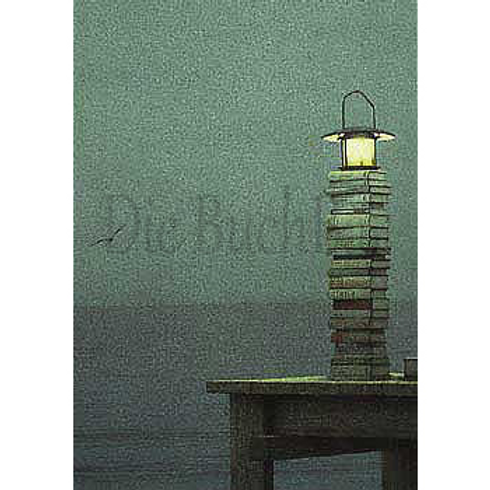 Kunstpostkarte »Leuchturm, möglicherweise«
