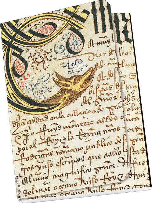 Taschennotizblock Gold »Privilegienbuch des C. Columbus«