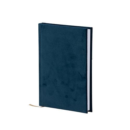 Samt-Notizbuch, blau